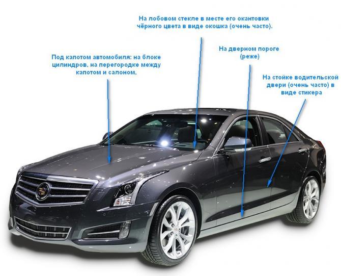 Где в машине находится VIN-код и как его найти?