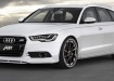 Audi A6 Avant спереди, белый