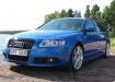 Audi A6 Avant в синем цвете, 2008 год