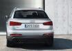 Audi Q3 - вид сзади серебристого авто