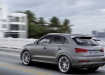 Audi RS Q3 - серый металлик, в движении