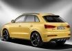 Audi RS Q3 - жёлтый, вид сзади