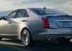 Cadillac CTS в движении, вид сзади