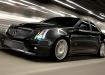 Cadillac CTS V - в движении, чёрный