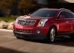 Cadillac SRX - красный в движении