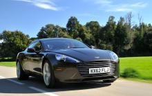 Aston Martin Rapide в чёрном цвете