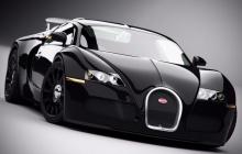 Bugatti Veyron в чёрном цвете