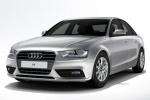 Audi A4 - вид спереди на белом фоне