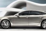 Audi A7 - вид сбоку в движении