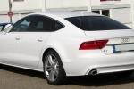 Audi A7 - белый, вид сзади