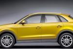 Audi Q3 - жёлтый, вид сбоку