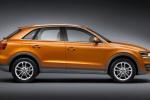 Audi Q3 - оранжевый, вид сбоку