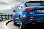Audi RS Q3 - вид сзади, синий автомобиль