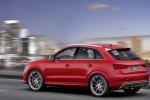 Audi RS Q3 - в движении в красном цвете