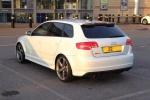 Audi RS3 - белый, вид сзади