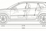 Audi RS3 - габариты