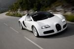 Bugatti Veyron Grand Sport - серебристый в движении