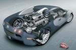 Bugatti Veyron - расположение двигателя и основных элементов