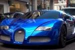 Bugatti Veyron ярко-синий
