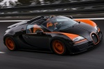 Bugatti Veyron в движении
