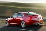 Cadillac ATS в движении в красном цвете