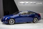 Cadillac ATS на выставке, синий