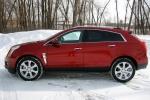 Cadillac SRX в красном цвете